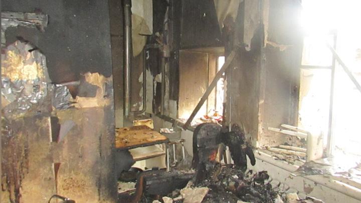 При пожаре в Башкирии тяжелые травмы получил мужчина-инвалид