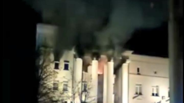 Ночью в Красноярской краевой администрации произошел пожар