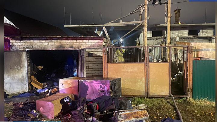 Житель Башкирии сгорел в собственном гараже