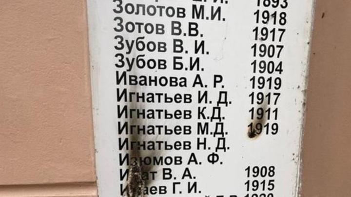 В Ивановской области вандалы повредили памятник воинам ВОВ