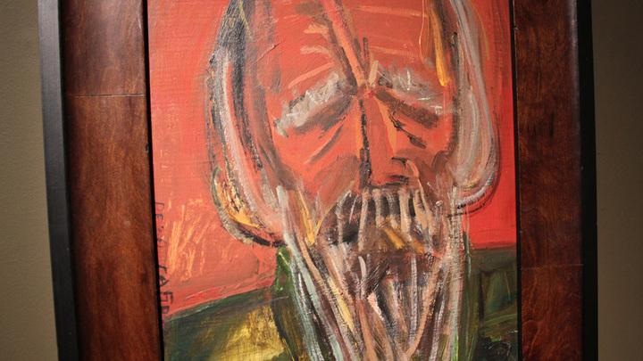 Солженицын. Портрет работы Резо Габриадзе,  Тбилиси, 2011 год.