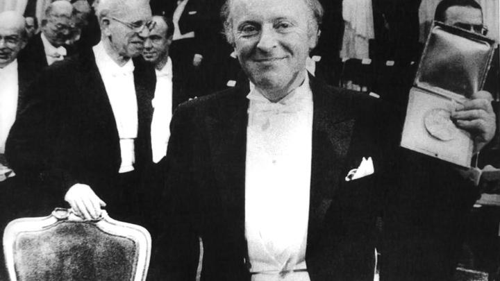 Бродский с Нобелевской медалью.