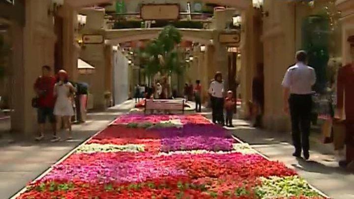 Фестиваль цветов открылся в ГУМе