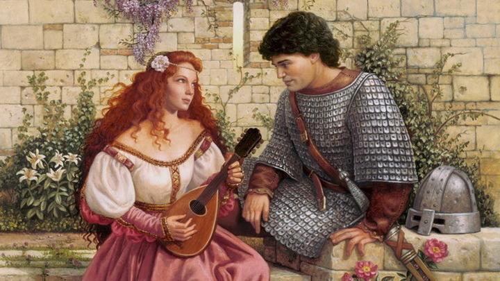 Рыцарь и девушка
